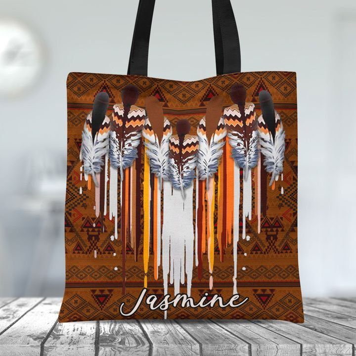 Personalized Customized Native American Heart Pattern Tote Bag