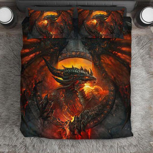 Fire Dragon Love Gift Bedding Set