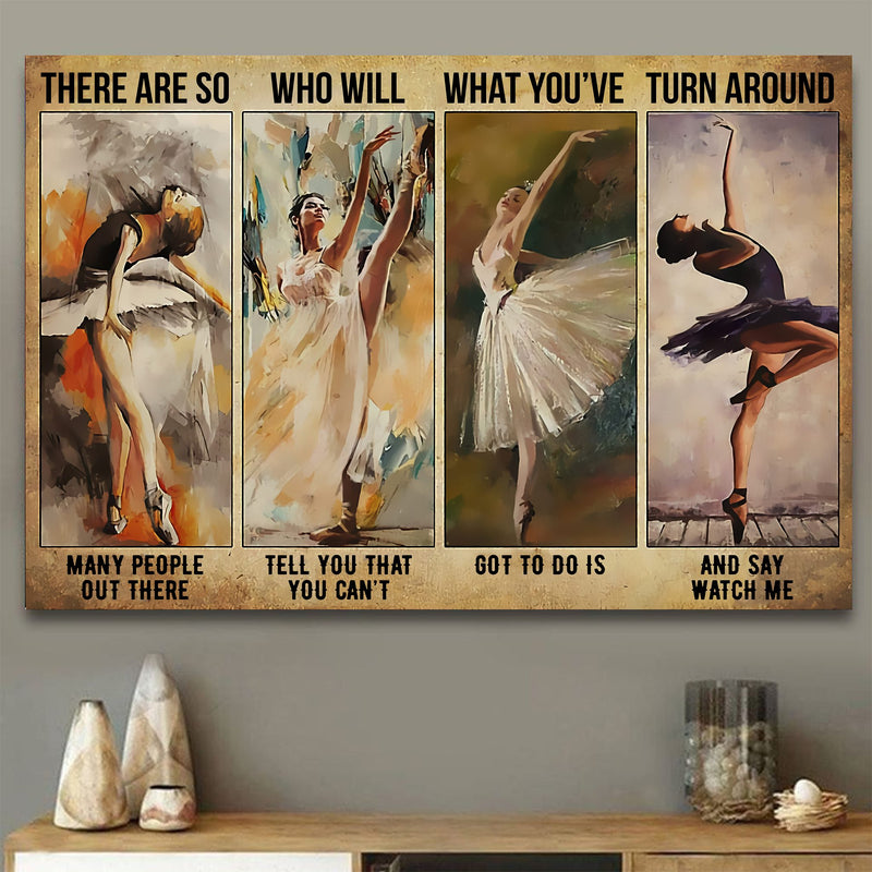 Ballet Girl Vintage Meaningful Quote Gift Poster