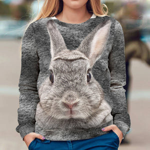 Real Rabbit 3D Sweater Sweatshirt