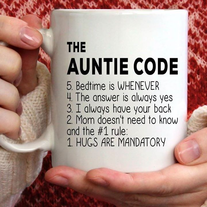 Auntie Code Hugs Are Mandatory Quote Funny Mug