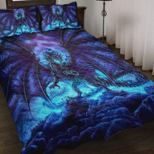 Love Dragon Purple Night Gift Bedding Set