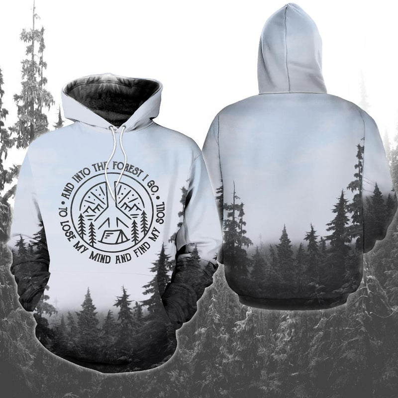 Into The Forest I Go Camping 3D Hoodie For Men and Women