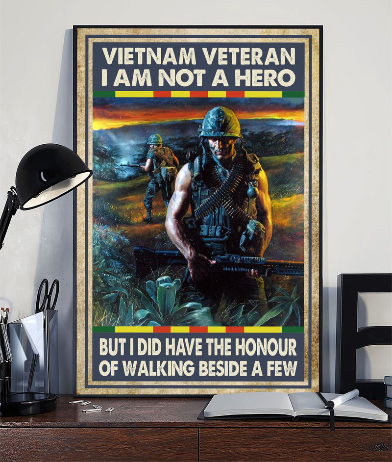 Vietnam Veteran US Honour Hero Christmas Gift Poster