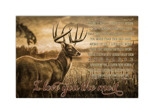 Love Deer Hunting Couple I Lvoe You The Most Meaningful Quote Valentine Gift Poster