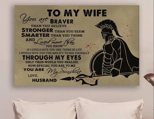Sparta From Husband To Wife Meaningful Quote Valentine Gift Idea For Her Poster
