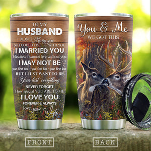 From Wife To Husband Love Deer Couple Lover Stainless Steel Tumbler