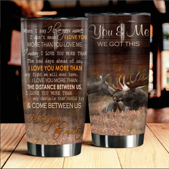 Moose You & Me We Got This Meaningful Quote Couple Love Valentine Gift Tumbler