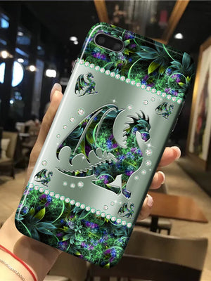 Dragon Metal Pattern Diamond PrintÊPhone Case