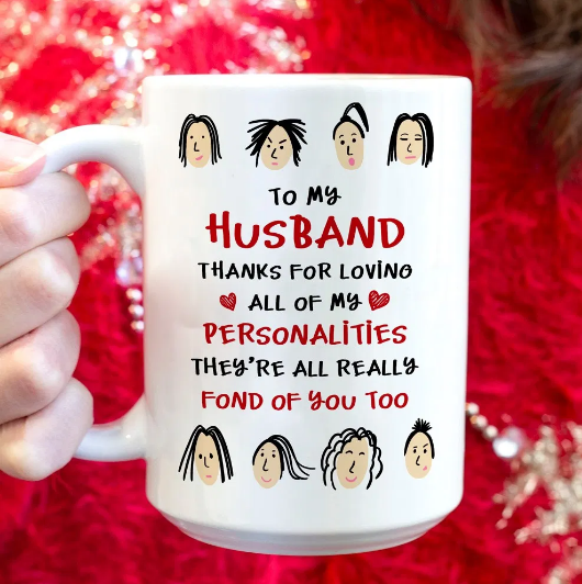 To My Husband Thanks For Lovino Funny Valentine Gift Mug