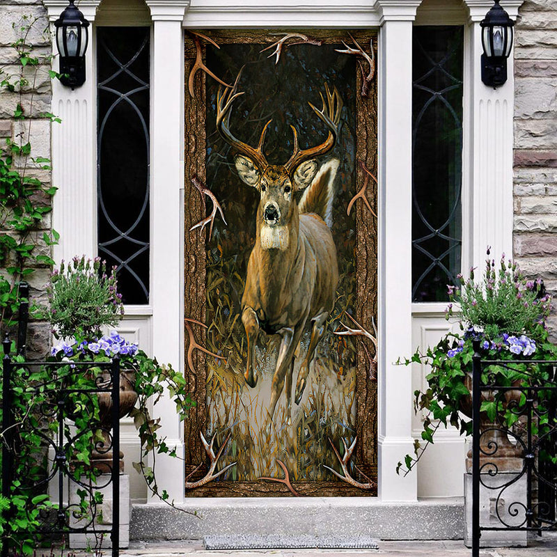 Love Hunting Deer Camoflage Printed Door Cover