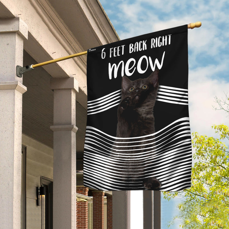 Black Cat 3D 6 Feet Back Right Meow Flag