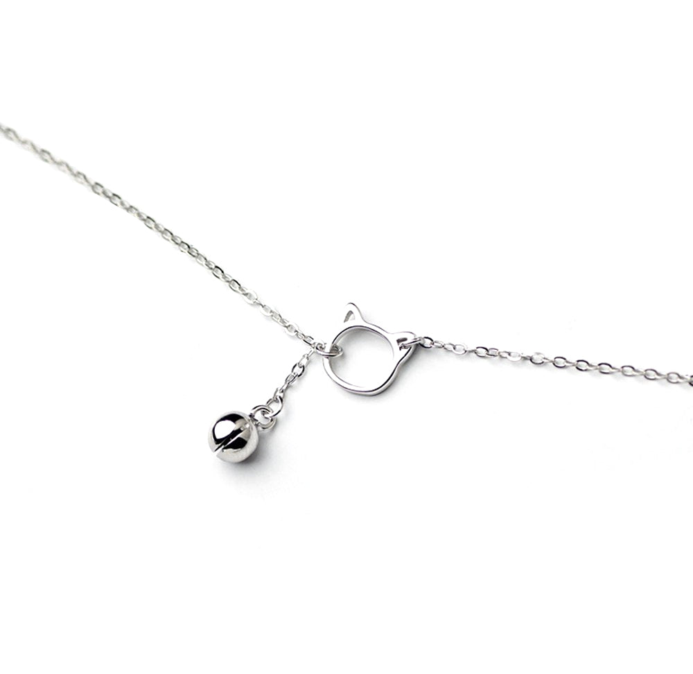 Cat Bell Silver Bracelet - Kawaii Kitty, The cutest Cat themed Gifts for cat lovers