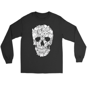 Cat Skull T Shirt Apparel