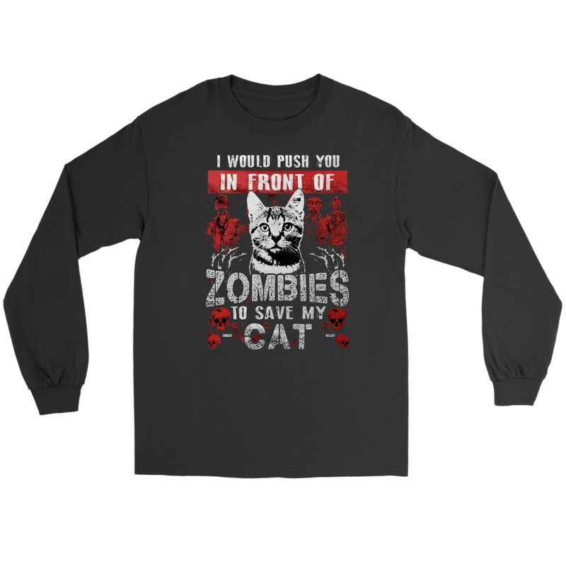 Cat Push You In Front Of Zombies