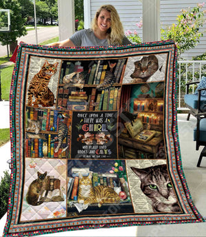 Cat and Book Like Quilt