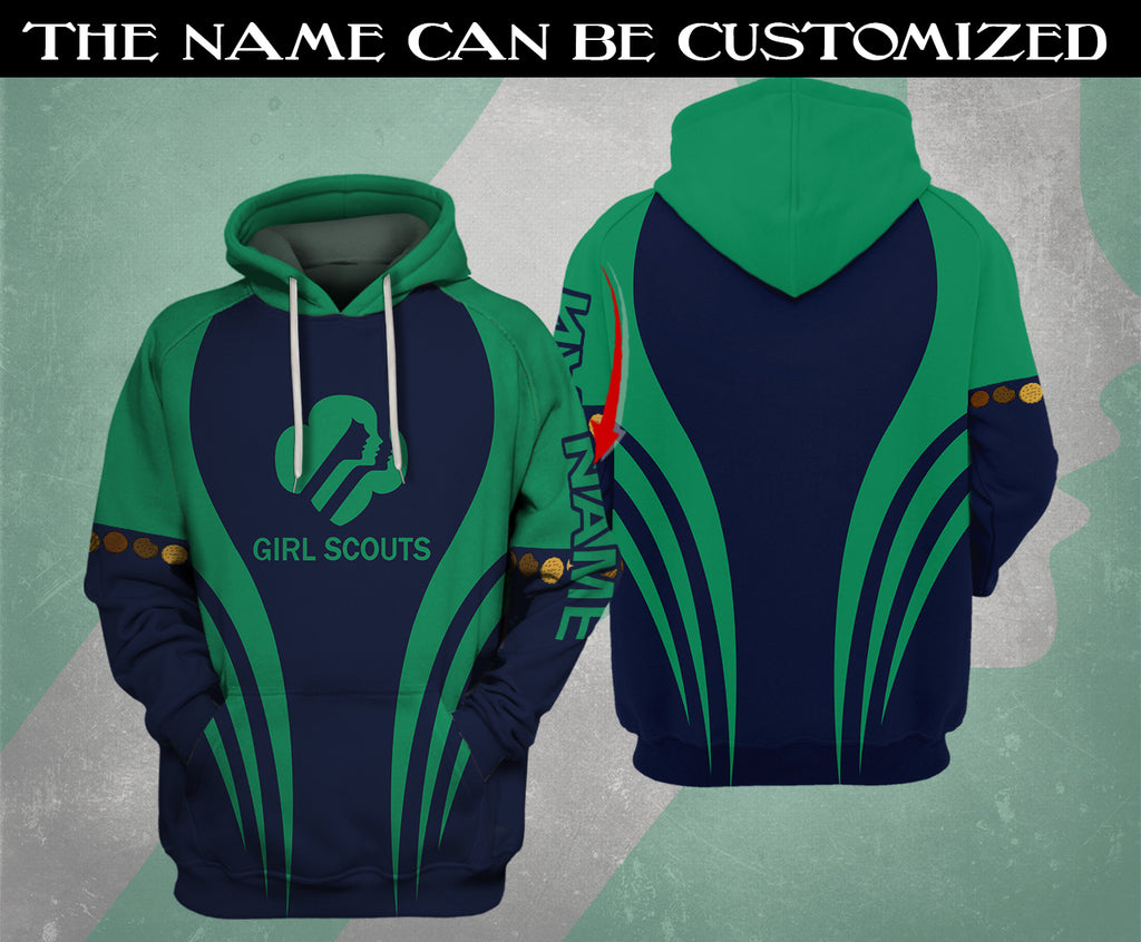 Personalized Girl Scouts Hoodie 3D
