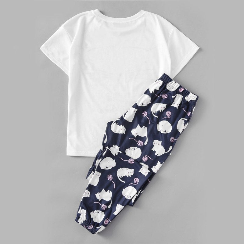 Cozy Cat Quote Sleepwear - Kawaii Kitty, The cutest Cat themed Gifts for cat lovers