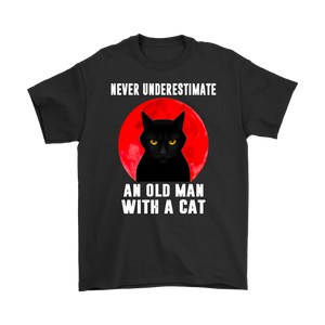 Cat Never Underestimate An Old Man With A Cat T Shirt Apparel