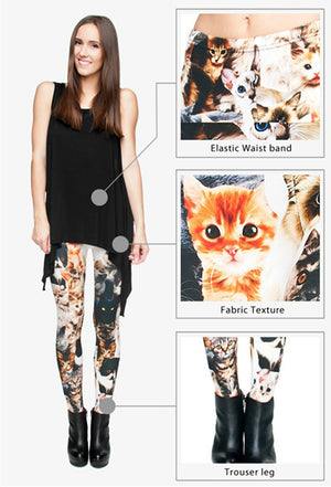 Cat Overload Leggings - Kawaii Kitty, The cutest Cat themed Gifts for cat lovers