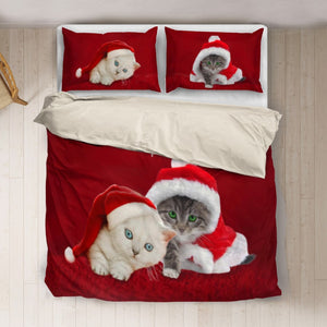 Cute Cats Xmas Bedding Set