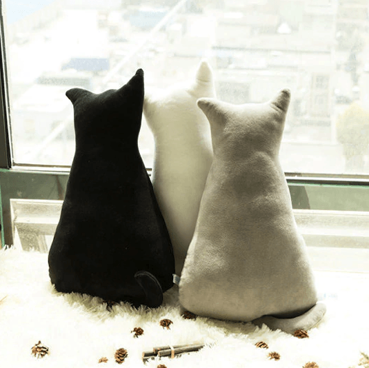 Kitty Minimalist Standing Cushions - Kawaii Kitty, The cutest Cat themed Gifts for cat lovers