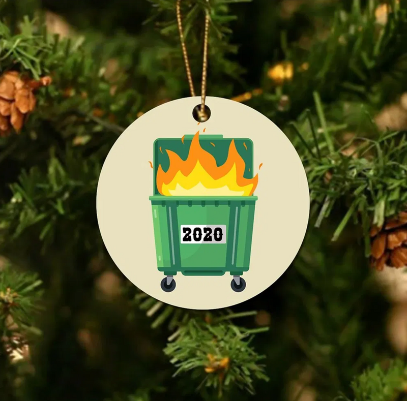 2020 Dumpster Fine Christmas Ornament