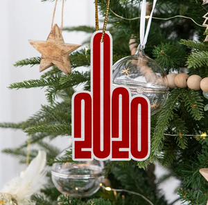 2020 Middle Finger Wooden Christmas Ornament