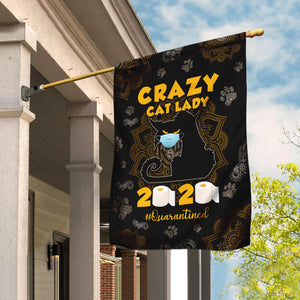 Crazy Black Cat Lady Flag