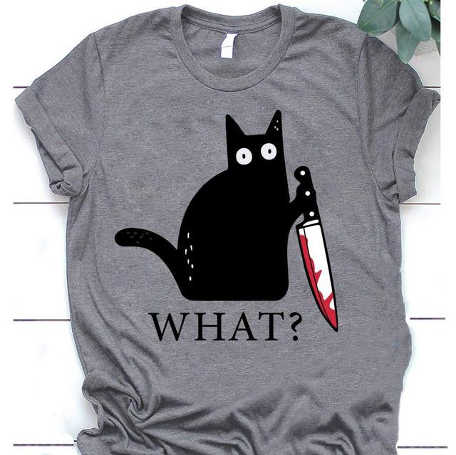 Cat Murder Funny Black Cat Shirt