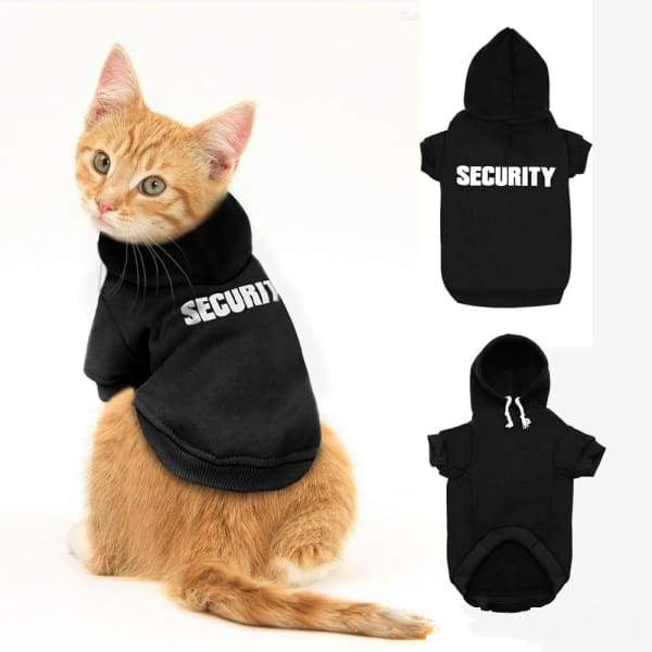 Security Cat Hoodie - Kawaii Kitty, The cutest Cat themed Gifts for cat lovers