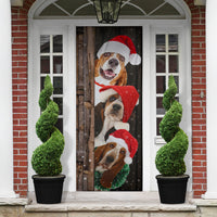 Basset Hound Dog Lover Christmas Wooden Printed Door Cover