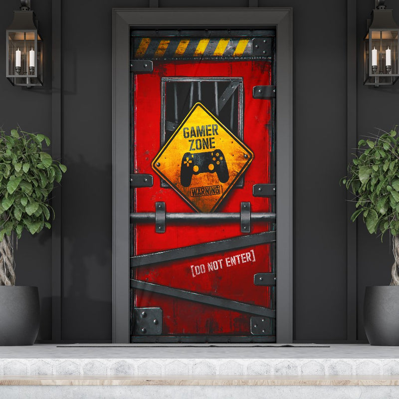 Gamer Zone Do Not Enter Door Cover
