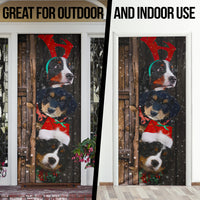 Bernese Mountain Dog Lover Christmas Wooden Printed Door Cover