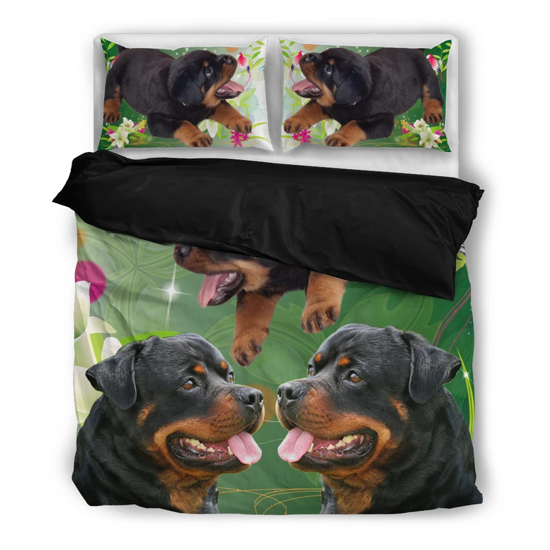 Love Dog Rottweiler Print Bedding Set