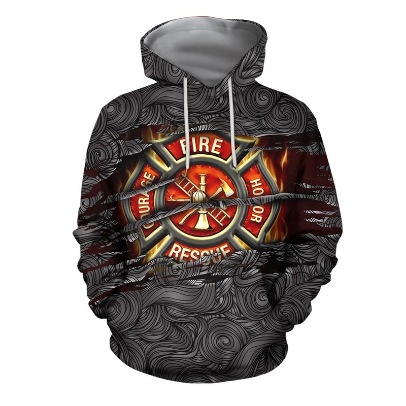 Symbol Firefighter Lover 3D Hoodie For Men And Women