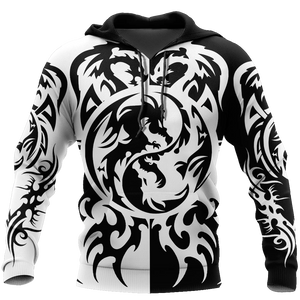 Dragon Tattoo Art Stencils The Origin of Dragons Hoodie For Men and Women