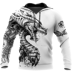 Tattoo and Dungeon Dragon Hoodie For Men and Women