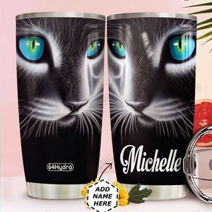 Personalized Customized 3D Cat Art Tumbler