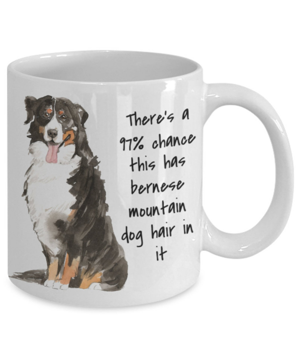 Bernese Mountain Mug Funny Dog Hair In This Mug
