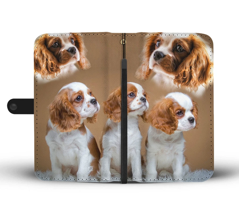 Love Dog Cute Cavalier King Charles Spaniel Print Wallet Case