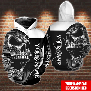 Personalized Customized Screaming Skull Hoodie 3D Printed Hoodies