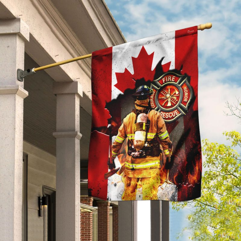 Canadian Firefighter Flag