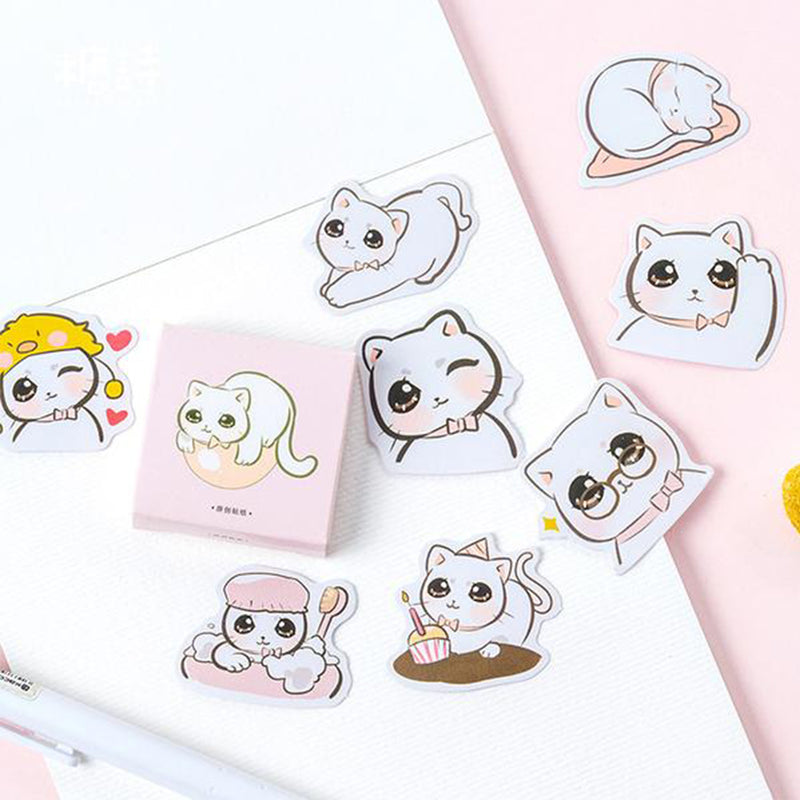 Big Eyes Kitty Stickers - Kawaii Kitty, The cutest Cat themed Gifts for cat lovers