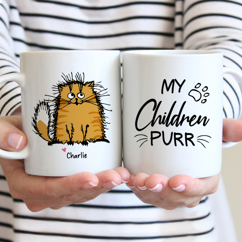 My Children Purr Coffee Mug