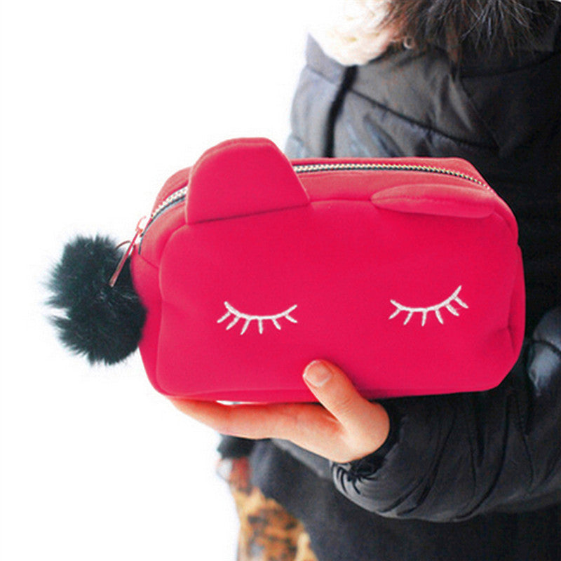 Cat themed Makeup Case - Kawaii Kitty, The cutest Cat themed Gifts for cat lovers