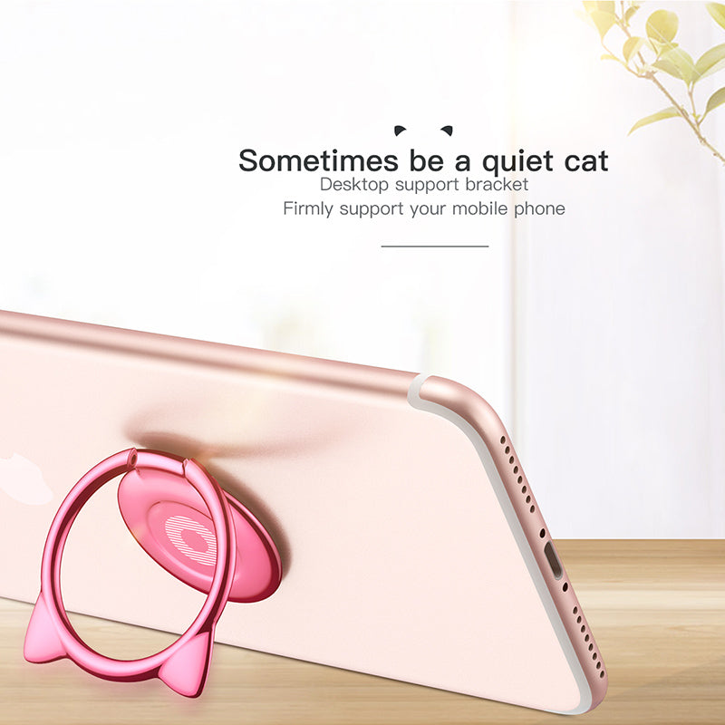 Cat face Phone Holder - Kawaii Kitty, The cutest Cat themed Gifts for cat lovers