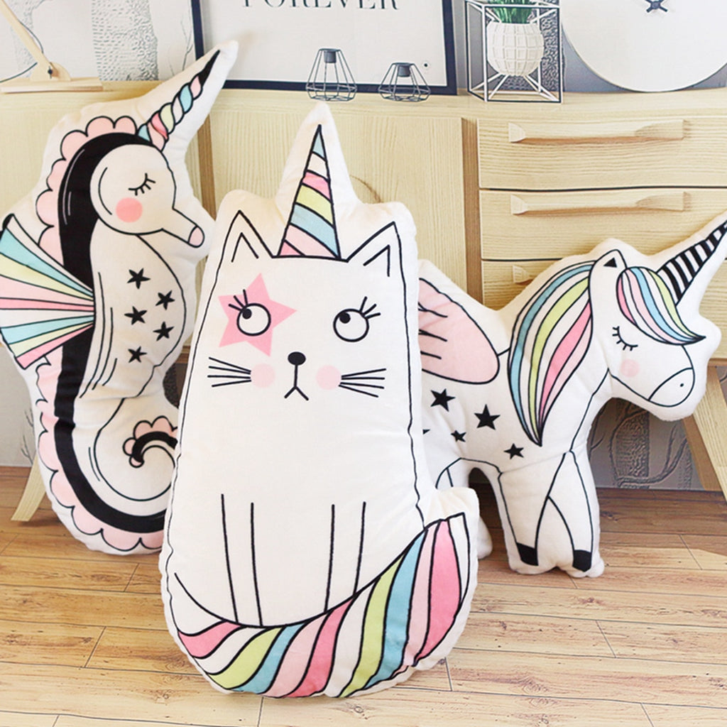 Caticorn Family Cushions - Kawaii Kitty, The cutest Cat themed Gifts for cat lovers