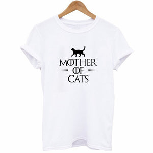 Mother Of Cats White T-shirt - Kawaii Kitty, The cutest Cat themed Gifts for cat lovers