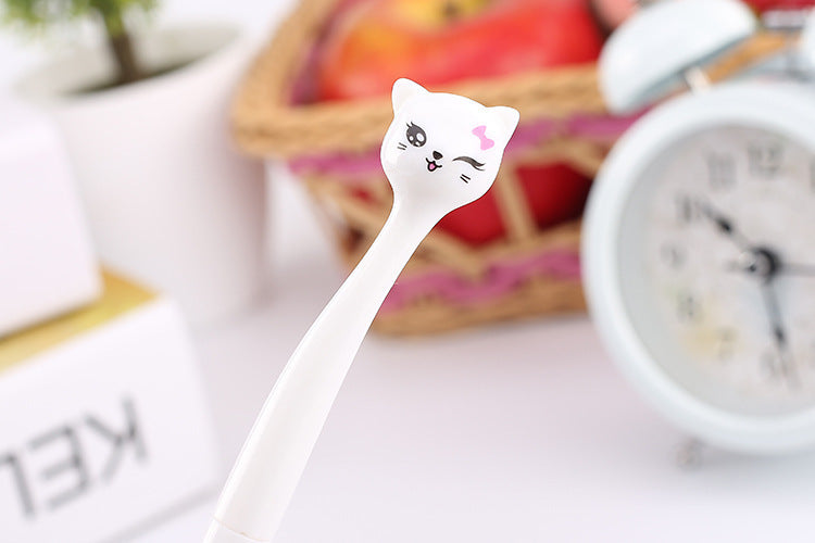 Colorful Cat Gel pens - Kawaii Kitty, The cutest Cat themed Gifts for cat lovers